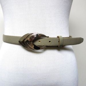 Accessories - VTG gray faux reptile leather belt